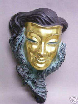 Pozlacená maska * Vergoldete Maske